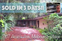 767 Acacia Sold in Melbourne Village