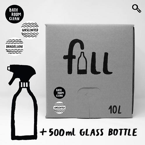 Baðherbergishreinsir 10L + flaska