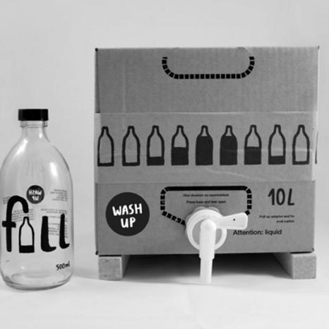 Uppþvottalögur 10L + flaska