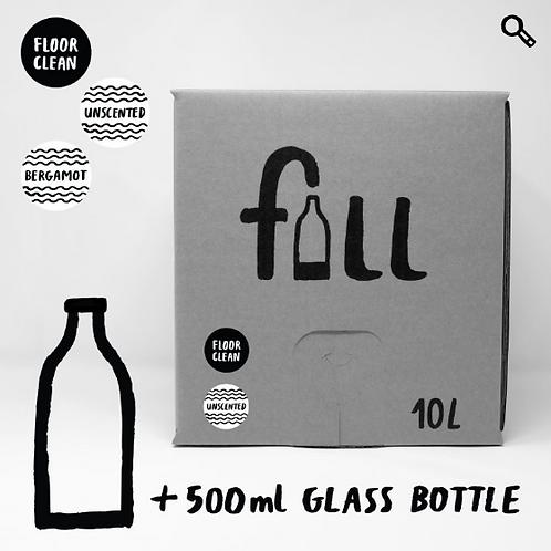 Gólfsápa 10L + flaska