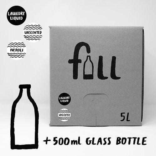 Fljótandi þvottaefni 5L + flaska