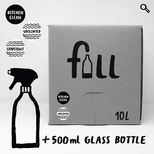 Eldhúshreinsir 10L + flaska