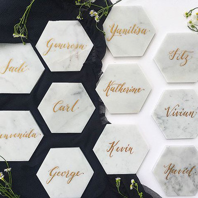 Marble wedding place cards