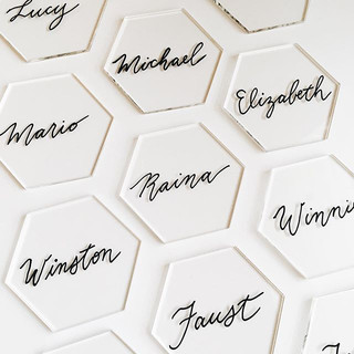 Acrylic place cards
