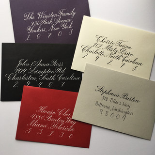 Copperplate calligraphy envelopes