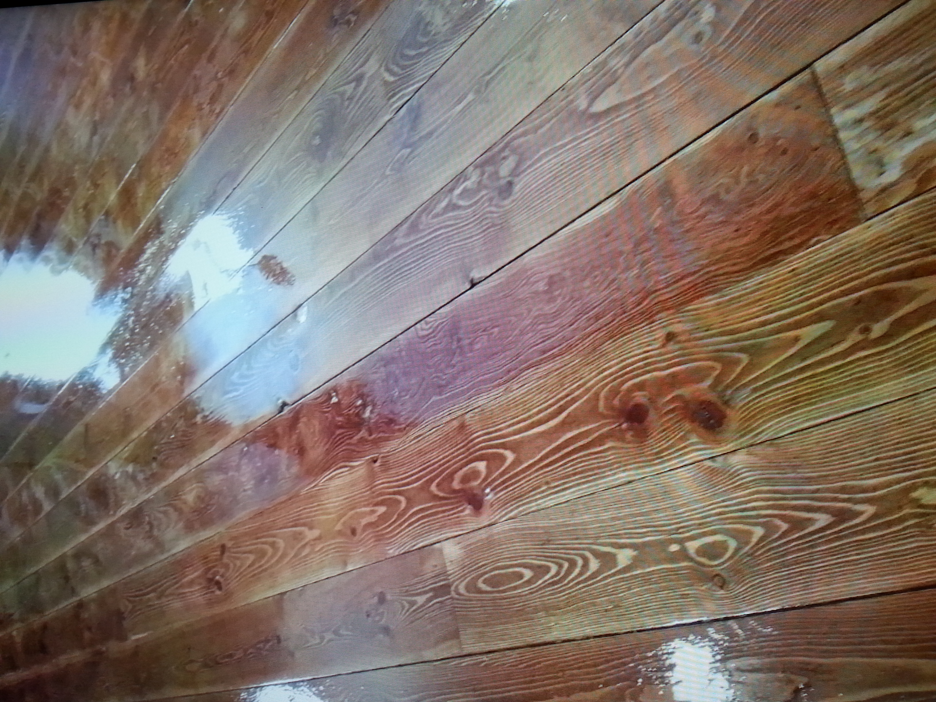 Unique Staining on Hardwood
