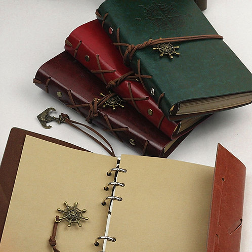 Artificial PU Pirate Notebook Diary Strap Planner Replaceable Stationery