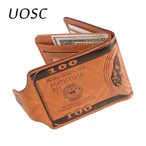 Leather Wallet Fashion Short Bifold Men Wallet