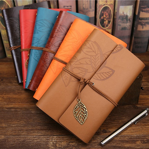 Retro Leather Diary Notepad, Planners, Office, School Supplies