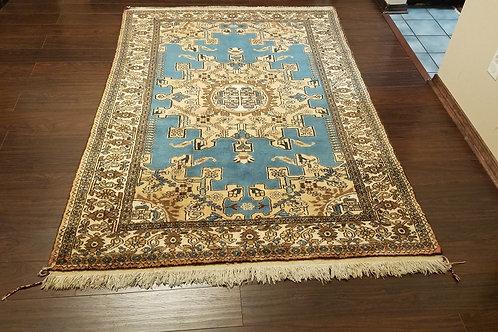 4.6 x 6.6 ft. Blue & Red Tafresh Persian Rug