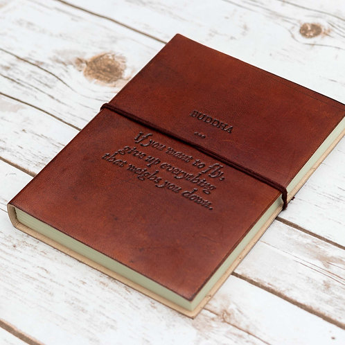 Buddha Quote Handmade Leather Journal