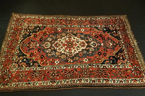 Antique Bakhtiari Persian Rug - Full Side View - SKU 131 - Shoppersianrugs.com