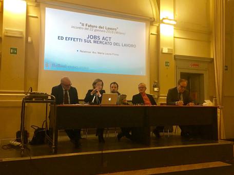 """Belloni Studio Legale alla conferenza """"Il Futuro del Lavoro"""" - Milano 22 gennaio 2018 per"""