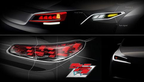 #klio, #car lamp, #automotive design, #car lamp sketch