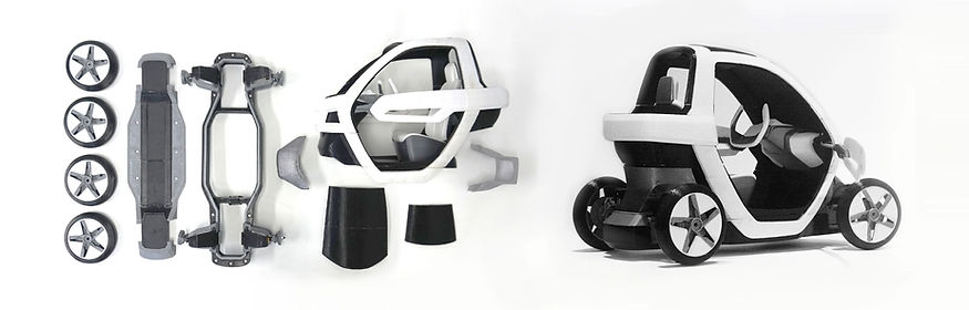 #3d printing, #klio, #personal mobility, #space frame, #compact car, #micro ev
