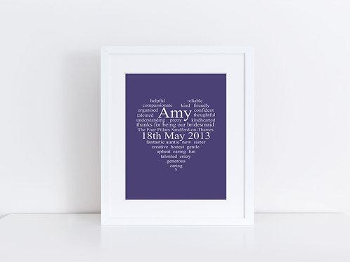 Personalised Birthday Print
