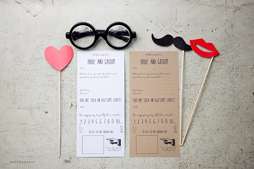 Fun advice cards for the Bride & Groom