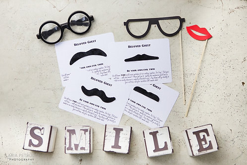 Vintage Moustache Wedding Table Game