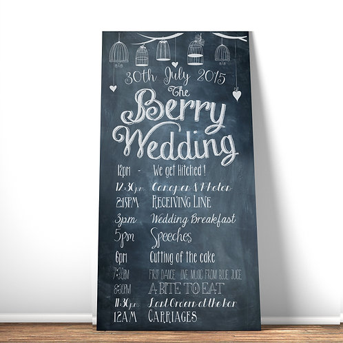 Extra Large wedding chalkboard