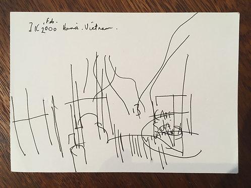 Justin Knowles. Signed drawing (British 1935-2004)