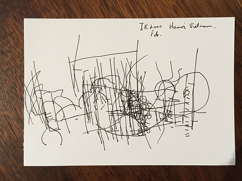 Justin Knowles. Signed drawing (British 1935-2004)
