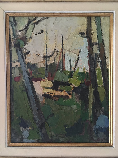 Abstract landscape by Geoffrey Hewitt (b.1930-1981)
