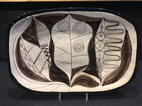 Roy Christopher Calthorpe. Studio ceramic platter.