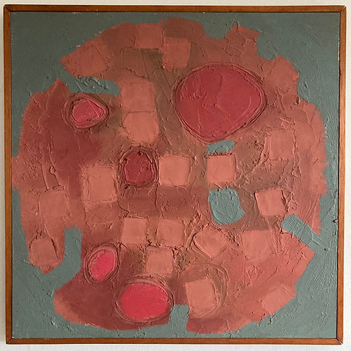William Chard. Mid century abstract painting.