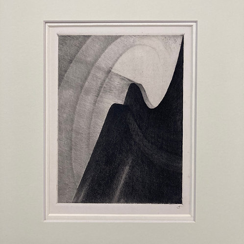 Abstract etching by Reinhold Rudolf Junghanns