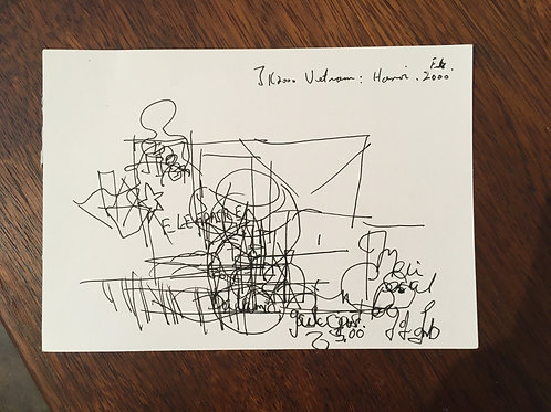 Justin Knowles. Signed drawing