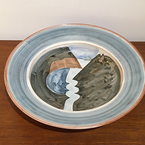 James Campbell studio ceramic platter.
