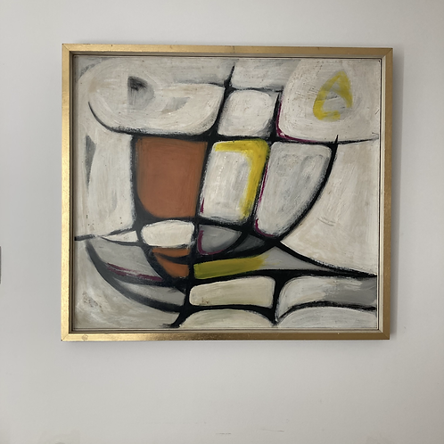 Mid century modern abstract by David Bruce Walker (1936-2016)