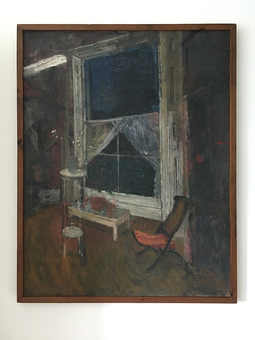 Fred Dubery. (1926-2011) Large interior scene, oil on board.
