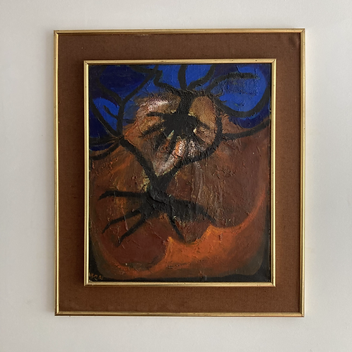 Gerald Moore (1926-2018) Signed 1980s abstract
