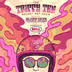 Glory Daze Trippy Ten Helmet Art Show