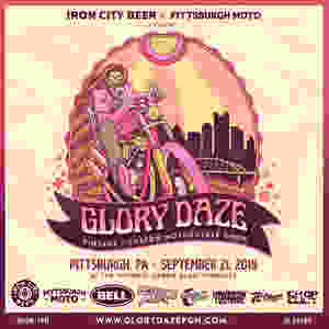 Glory Daze Motorcycle Show Poster Art