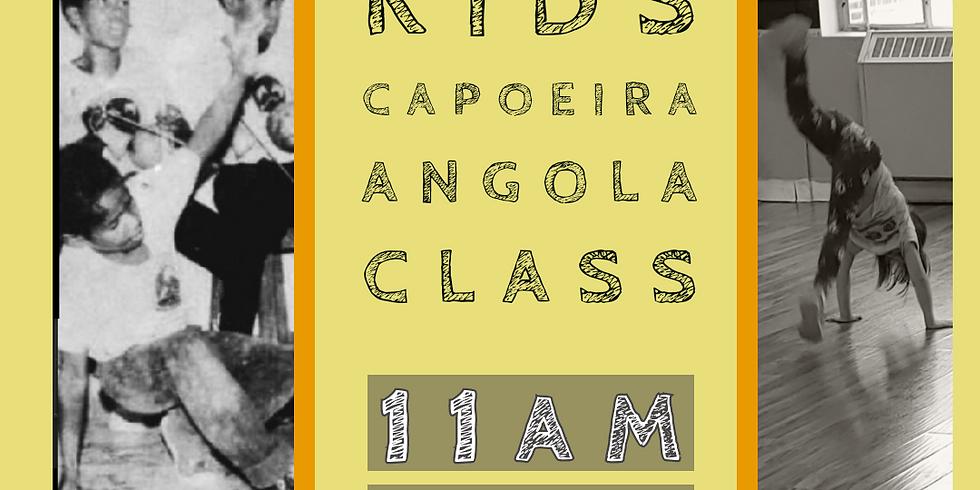 FREE Online Kids Capoeira Angola Class (older/more advanced)