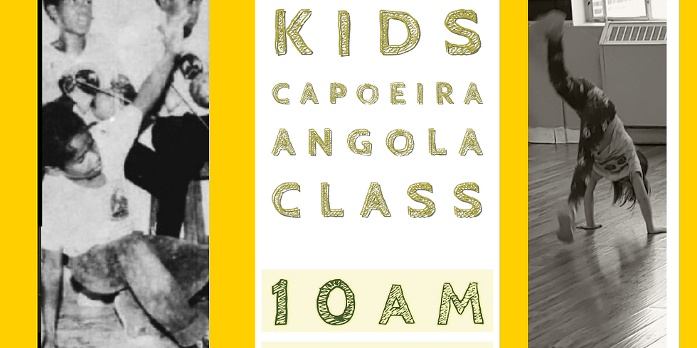 FREE Online Younger Kids Capoeira Angola Class