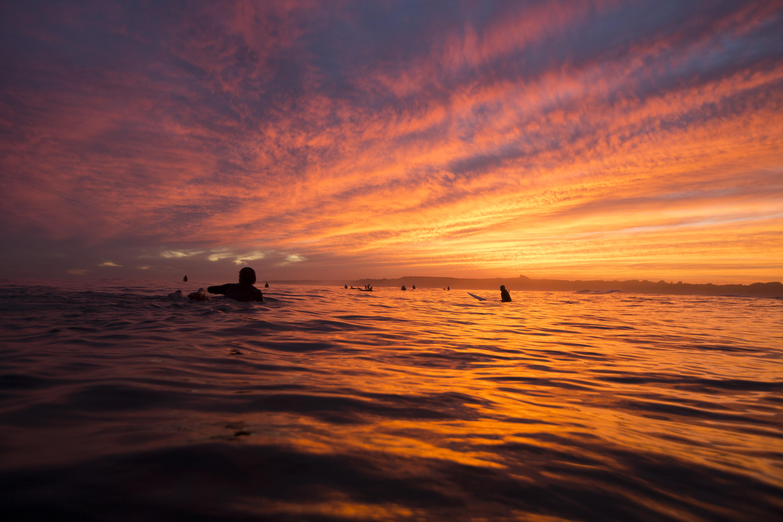 Ditch Plains Sunset float