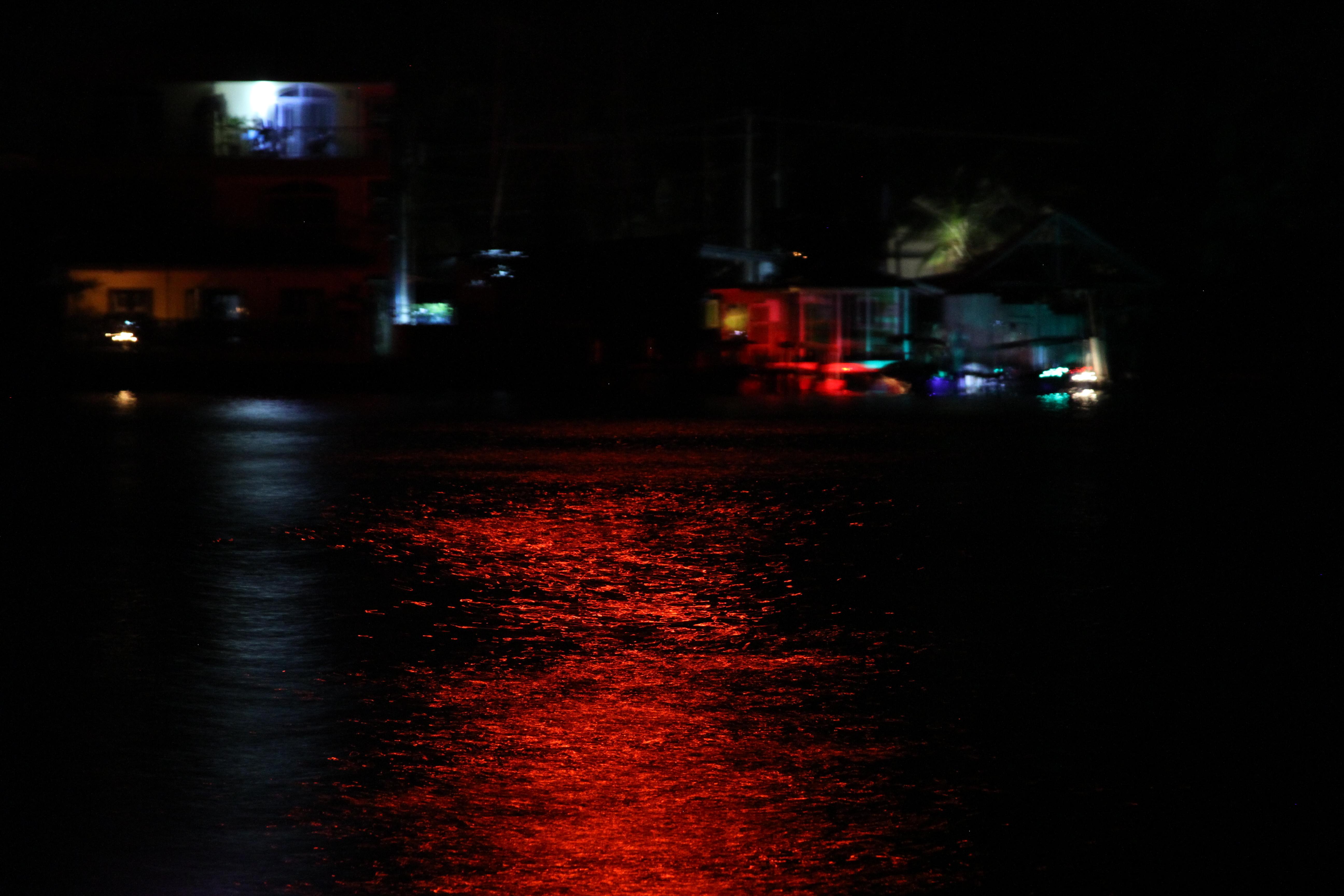 Canal night, panama