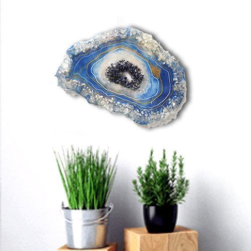 Sodalite crystals geode