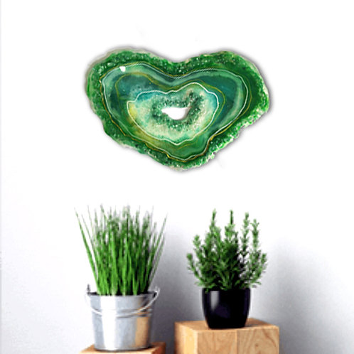 Green Aventurine crystal geode