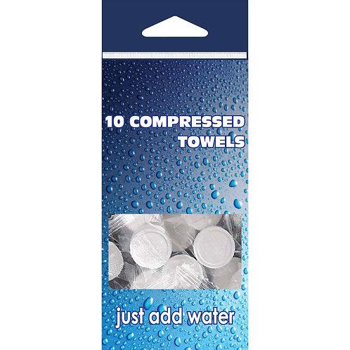 10 Compressed Towels