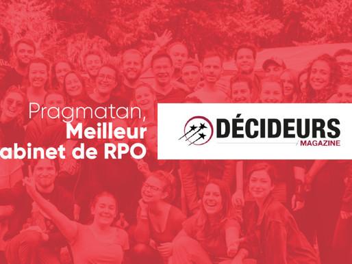"""Pragmatan, """"Excellent"""" cabinet de RPO selon Décideurs Magazine"""