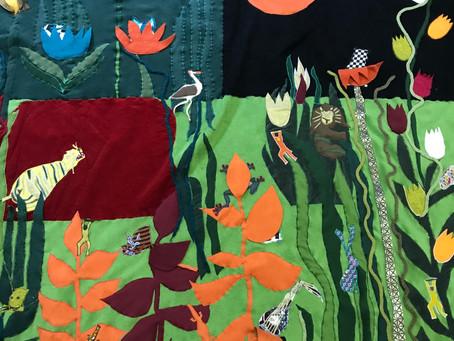 Un tapis d'après l'œuvre du Douanier Rousseau...