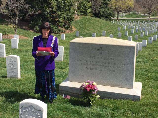 Sharla at Delano Grave.JPG