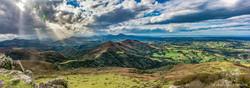 Vue sur le pays basque du Mondarrain