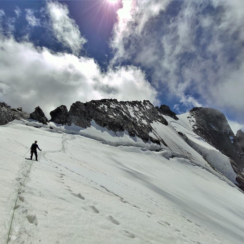 Sur le glacier de la Meije