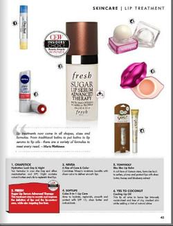 CEW Insider Choice Lip Treatments