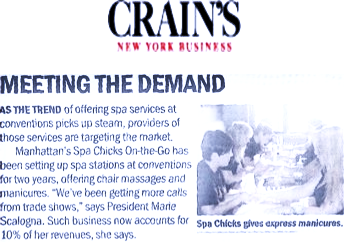Crains Business X Spa Chicks